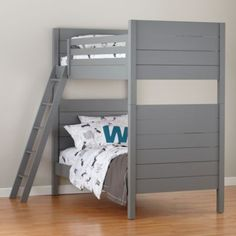 Uptown Bunk Bed (Grey)  | The Land of Nod