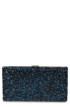 Roomy crystal clutch with chain strap. Perfect for date night!