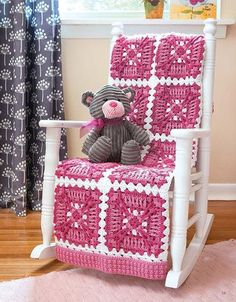 Accented with texture-rich stitches, the designs in Granny Square Baby Afghans take on a modern look that's just right for the nursery in bright, playful colors. Seven crochet designs by Carol Holding