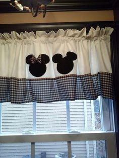 Mickey and Minnie Mouse Curtain Valance
