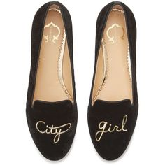 C. Wonder City Girl Novelty Smoking Slipper ❤ liked on Polyvore featuring shoes, slippers, flats, loafers, black and flat