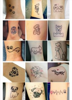 Excellent simple ideas for your inspiration Small Dog Tattoos, Small Flower Tattoos, Mini Tattoos, Puppy Tattoo, Cow Tattoo, Henna Tattoo Designs, Small Tattoo Designs, Finger Tattoos, Body Art Tattoos