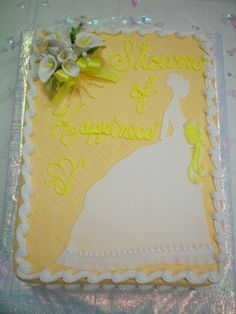 Fondant Bride Silloutte and Gumpaste flowers top this Briday Shower Cake