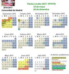Calendario Escolar 2016-2017. Días no lectivos #vacaciones escolares #Madrid Periodic Table, Html, Baccalaureate, School Calendar, Special Education, School Holidays, Periodic Table Chart