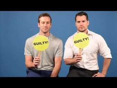 """Henry Cavill & Armie Hammer Play A Game Of """"Never Have I Ever"""" - YouTube"""