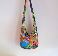 Patchwork Crazy Quilt Hobo Bag Boho Bag Sling Bag by 2LeftHandz, $25.00