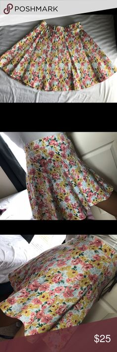 Iris Floral Skater Skirt Great condition  Stretchy material  Size medium  Floral design  Awesome quality, not cheap material  Great for spring or summer! 🌸 Iris Skirts Circle & Skater