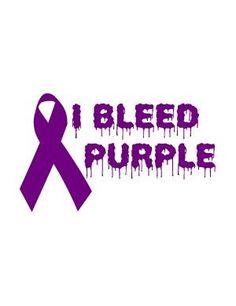 I bleed purple!! #relayforlife