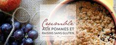Crumble pommes raisins