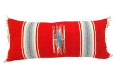 Red Mexican       Serape Pillow on OneKingsLane.com