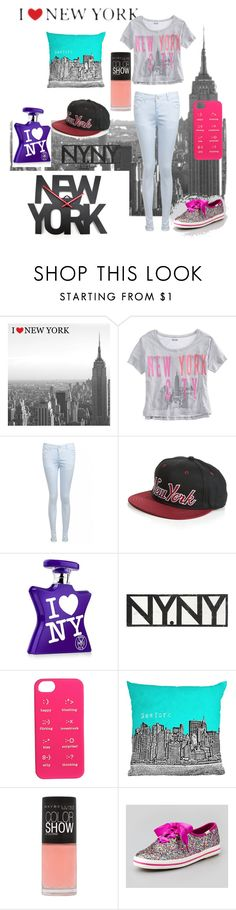 """""""new york"""" by avilajakelin ❤ liked on Polyvore featuring American Eagle Outfitters, Bond No. 9, Go Jump in the Lake, Kate Spade, DENY Designs and Maybelline"""