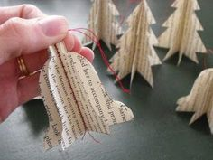 Book Page Ornament Tutorial - 3D - Made on a Sewing machine
