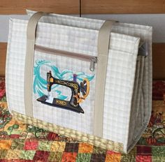 PDF Pattern from Quiltessa Natalie An intermediate sewing pattern from Quiltessa Natalie for this elegant bag that allows you to organize and carry your sewing, quilting, or craft supplies!