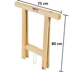 kit 2 cavaletes mesa escritório madeira 75 x 80 promoção
