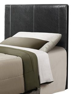 Homelegance 815TBKPU1 BiCast Vinyl Headboard Only Twin Black -- More info could be found at the image url.