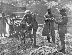 Henri Desgrange, second from right, Inventor of Tour de France, 1913