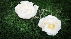 Gigamt Ivory Crepe Paper Flowers paper flowers by moniaflowers