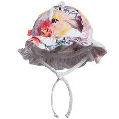 Baby Girls Grey Floral 'Nizana' Sun Hat, Molo, Girl