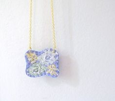 40 off Embroidered Necklace Lace and Felt by OrdinaryMommy on Etsy