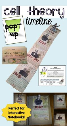 Cell Theory Pop-Up Timeline Use this activity to add a creative twist to the cell theory. Students love making their little pop up scientists and adding their speech bubbles!