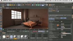 How To Model And Render A Realistic Bedroom In Cinema 4D Part 2 by Nick Campbell. In this tutorial, I will show you how to texture, light and render an interior bedroom scene using Cinema 4D and the Physical Renderer. We will use a Daylight setup and a night time setup.