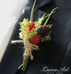 Wedding Boutonniere Wedding Boutonnieres Groom Boutonnieres Berry Boutonniere Groomsmen Boutonnieres  Wedding boutonniere will be perfect for groomsmen or groom. This boutonniere has been crafted with beautiful artificial berries and leaves.   Each of my items are unique.  Thank you for visiting my shop! http://www.svetlanadankova.com/  Wedding Boutonniere Wedding Boutonnieres Groom Boutonnieres Berry Boutonniere Groomsmen Boutonnieres