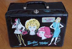 Vintage 1963 Mattel Barbie and Midge Vinyl Patent Lunch Box Lunchbox by retrowarehouse on Etsy Mattel Barbie, Barbie And Ken, Boyfriend Names, Ken Doll, Barbie Friends, Toy Boxes, All Sale, Vintage Dolls, Childhood Memories