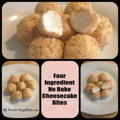Cheesecake Bites NO BAKE 4 Ingredients #SuperEasy