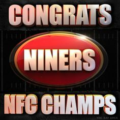 Congrats to the We are the Champions! See you at the Super Bowl. Brother against Brother. Feb Get your SB game on! Super Bowl Xvi, Forty Niners, 49ers Fans, We Are The Champions, San Francisco 49ers, Nfl Football, Sports, Game, Champs
