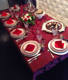 Christmas Dessert and Tea Tablescape with Ralph Lauren, Staffordshire transferware, and Neiman Marcus silver