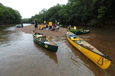 Quick stop in a canoe trip. Brazil.