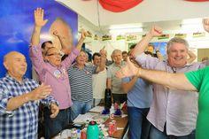 Obrigado Rio Grande!  Aqui o #PMDB teve duas vitórias: para o governo do Estado, com Sartori e Cairoli, e para a Presidência da República com Dilma e #MichelTemer.  Vamos, unidos, ao grande trabalho que nos espera.  Eliseu Padilha