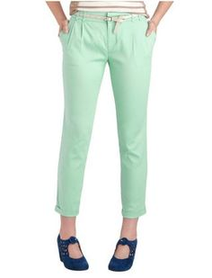 These tapered slacks put a fun twist on last spring's must-have colored jeans.