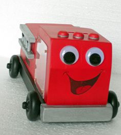 Fire Truck Bank  Available by custom request at http://pawpawsworkshop.etsy.com $39