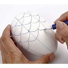A Polystyrene Egg with Vivi Gade Fabric | DIY guide