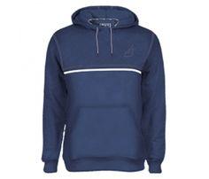 Get Dark Blue Designer Hoodie with #jacket #manufacturer, Alanic Clothing.