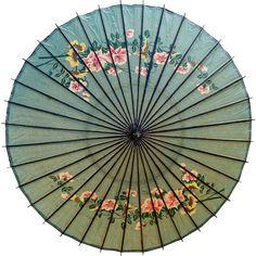 century Japanese parasol, antique hand printed paper and laquer parasol, wagasa Paper Umbrellas, Umbrellas Parasols, Paper Lanterns, Asian Inspired Decor, Sun Parasol, Umbrella Photography, Japanese Costume, Umbrella Art, Japanese Quilts