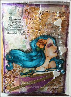 Gunns Kreative Rom: ART JOURNAL - Faces 3 Arts, Art Journals, Mixed Media, Blog, Faces, Painting, Beautiful, Creative, Art Diary