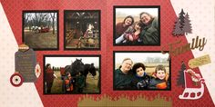 Scrapbook Layout Family Christmas Cards - Win an All That Glitters Card Kit Virtual Crop Challenge Wedding Scrapbook Pages, Christmas Scrapbook Layouts, Scrapbooking Ideas, Scrapbook Sketches, Scrapbook Page Layouts, Glitter Slides, Glitter Pictures, Family Christmas Cards, Picture Layouts