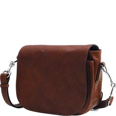 Floto Women's Roma Saddle Bag in Brown Italian Calfskin Leather - Handbag Shoulder Bag Leather Saddle Bags, Leather Briefcase, Saddle Handbags, Italian Leather Handbags, Leather Bags Handmade, Handmade Handbags, Leather Design, Online Bags, Bucket Bag
