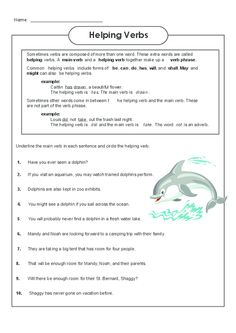 Printables Main And Helping Verbs Worksheet helping verbs worksheet language free worksheets and continue to practice identifying main freeenglishworksheets helpingverbs language