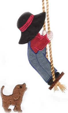 Boy on swing Embroidery/applique Design Sewing Appliques, Applique Patterns, Applique Quilts, Applique Designs, Embroidery Applique, Machine Embroidery Designs, Quilt Patterns, Baby Applique, Embroidery Stitches