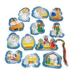 Nativity Lacing Cards - OrientalTrading.com