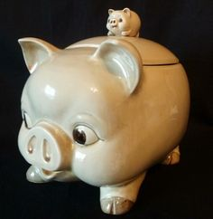 Vintage,,This Little Piggy Cookie Jar