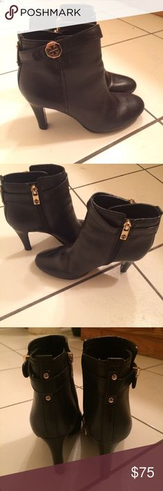 Tory Burch booties Tory Burch booties in size 6M. It should fit you if you're 6-6.5. Also in great condition! Shoes Ankle Boots & Booties