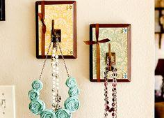 DIY Decorative Plaque Hooks - for necklaces, scarves, etc