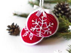 Swiąteczne zawieszki na choinkę - cataneedle - Dekoracje bożonarodzeniowe