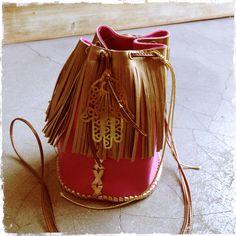 Small Pink Leather Pouch ~  Calle Antonio Mari Ribas 3, 07800 Ibiza.  www.oco-ibiza.com