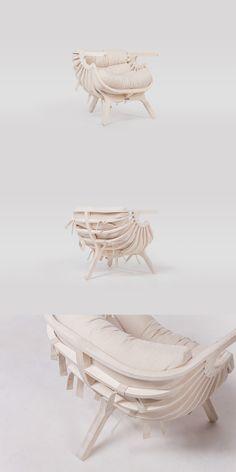 Реплика кресла-ракушки Branca Lisboa. Работа Coolhaus. Shell Chair Branca Lisboa by Coolhaus \ Siberia. Krasnoyarsk. #craftup_furniture