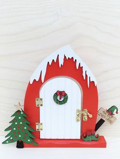 This magical Santa's Workshop fairy door will bring a little christmas magic to your house this year and many more! The item measures x Help the children believe with this beautiful item The door does open and close too Christmas Fairy, Christmas Makes, Christmas Door, Diy Fairy Door, Fairy Doors, Fairy Crafts, Christmas Crafts, Christmas Ornaments, Elf Door